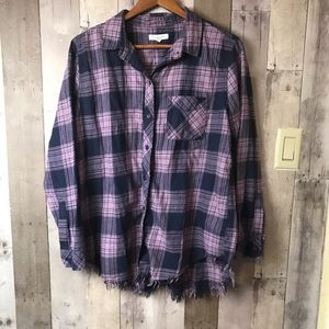 Anthro Beach lunch lounge elyse frayed flannel